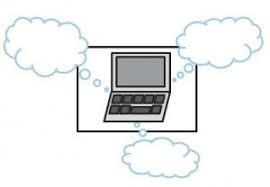 dator med moln